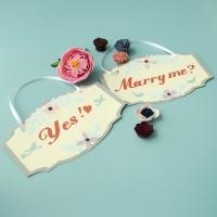 (2종) MARRY ME 웨딩피켓set