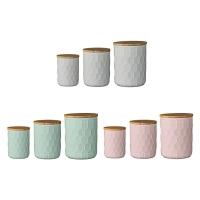 [BloomingVille]Jars w/Bamboo Lid Set of 3 밀폐용기
