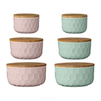 [BloomingVille]Bowls w/Bamboo Lid Set of 3 21700004 밀폐용기