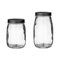 [BloomingVille]Jar w/Metal Lid, Clear Glass 밀폐용기