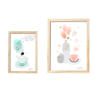 [BloomingVille]Frame, wood, nature, photo 액자