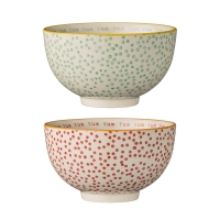 [BloomingVille]Laura Bowls w/Dots & text inside 21100441 볼