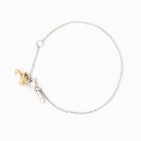 Small Planet Bracelet - White pearl/Sil chain