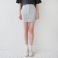 Cotton basic mini skirt