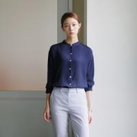 Unbalance wrinkle blouse