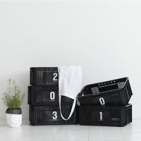 (4개 셋트) Multi Black Basket