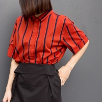 orange stripe blouse