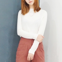 소프트 슬림 반폴라 티셔츠(3color)