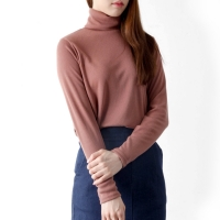 basic turtle neck knit top