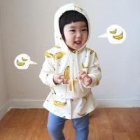 바나나후드티 유아후드짚업