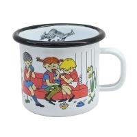 [Muurla]Pippi Enamel mug 2,5dl,white 1400-025-03 법랑머그