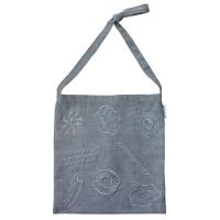linen stitch gray bag
