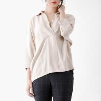 V-neck woman shirts blouse