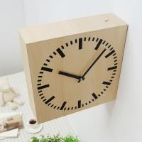 스퀘어우드양면벽시계(2COLOR)