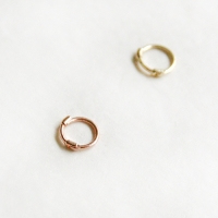 10k gold ring earring-Small