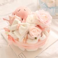 핑크 코 자는 토끼 1단 기저귀케익 (1단전용상자포함)