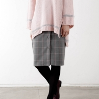 square button skirt