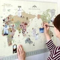데코 트래블 월드맵 Ver.3 [꾸미는 세계 지도]