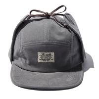 CORDUROY EARFLAP CAMP CAP - GREY_(765879)