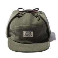 CORDUROY EARFLAP CAMP CAP - OLIVE_(765878)