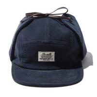 CORDUROY EARFLAP CAMP CAP - NAVY_(765877)