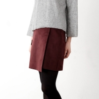 suede lap skirt