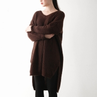 v long knit onepiece top