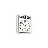 [트웸코] 캘린더 플립 벽시계 BQ12A (White)