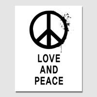 캔버스액자 / CAS423 북유럽 스타일-타이포-LOVE AND PEACE