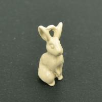 토끼금속장식(아이보리)_10mm