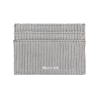 Gray-corduroy card wallet