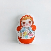 [Fabric] 바이민 6탄! 빈티지돌 인형 컷트지 코튼(빈티지오뚜기)