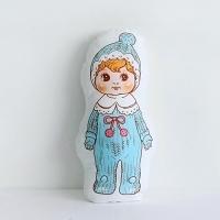 [Fabric] 바이민 6탄! 빈티지돌 인형 컷트지 코튼(털모자루버돌)