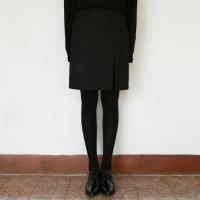Daily side slit midi skirt