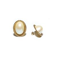 모조 마베 진주 이어링 Faux Mabe Pearl Earrings