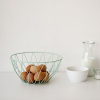 Wire round basket - Mint