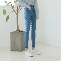 Color high denim skinny