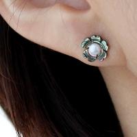 자개 꽃 귀걸이(6월탄생석)mother of pearl flower earring