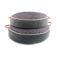 [blackmayonnaise] Quilted Round Cushion_Dark Gray