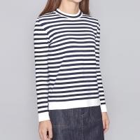 stripe unbalance slit knit (3 colors)_(197833)