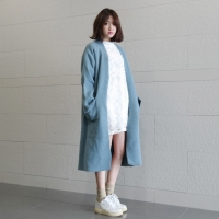 long loose-fit knit cardigan