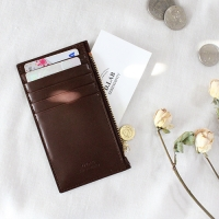 D.LAB Gato zipper wallet - Brown