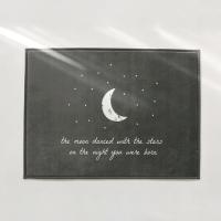 [Deco] 70x50 극세사 발매트 스틸그레이_THE MOON