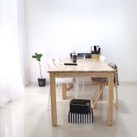 [벤트리] 원목 슬라이딩 테이블 대