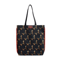 Pattern eco bag - Puppy Gray