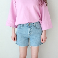 simple denim short pants