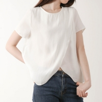 [LOVELY] DIAGONAL WAVE BLOUSE
