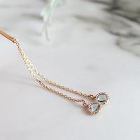토파즈 체인 클래시 귀걸이(11월탄생석)topaz chain classy earring