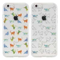 'RAON' WATERCOLOR CAT PATTERN(6TYPE) SOFT CASE