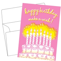 Lithography greeting card 19 Birthday cake